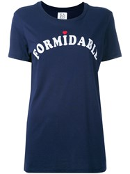 Zoe Karssen 'Formidable' Print T Shirt Blue