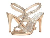 Caparros Givenchy Gold Metallic Fabric High Heels