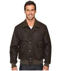 Filson Ranger Oil Cloth Bomber Orca Gray Men's Coat Brown