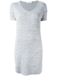 Rag And Bone Jean Loose Fit T Shirt Dress Grey