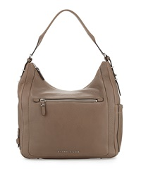 Etienne Aigner Aperature Leather Hobo Bag Slate