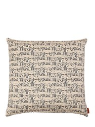 Missoni Ideogramma Cotton Pillow Beige Black