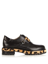 Francesco Russo Leather And Calf Hair Loafers Black Multi