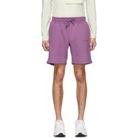 Aime Leon Dore Purple French Terry Logo Shorts