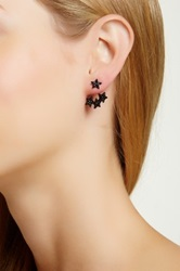 14Th And Union Pave Star Jacket Earrings Black