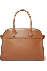 The Row Margaux 10 Buckled Leather Tote Tan