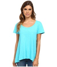 Fresh Produce Luna Top Luna Turquoise Short Sleeve Pullover Blue