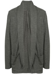 Attachment Draped Cardigan Grey