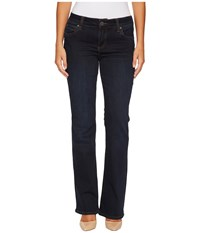 Kut From The Kloth Petite Natalie High Rise Bootcut In Immeasurable W Euro Base Wash Immeasurable Euro Base Wash Women's Jeans Black