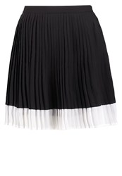 Fashion Union Caggy Pleated Skirt Black White