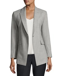 Theory Etiennette Continuous Long Line Blazer Charcoal