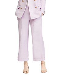 Ralph Lauren Wide Leg Cropped Pants 100 Exclusive Purple
