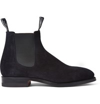 R.M. Williams Suede Chelsea Boots Blue