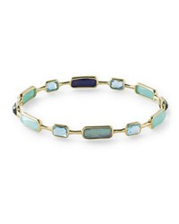 Ippolita 18K Rock Candy 12 Stone Bangle In Waterfall Gold