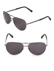 Ermenegildo Zegna 61Mm Aviator Sunglasses Black