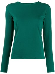 Majestic Filatures Long Sleeves T Shirt Green