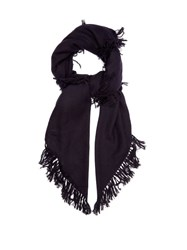 Isabel Marant Zila Cashmere And Wool Blend Scarf Navy