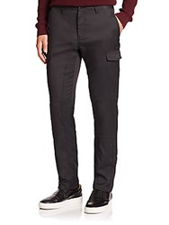 Saks Fifth Avenue Slim Fit Cargo Pants Black