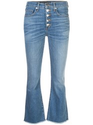Veronica Beard Cropped Flare Jeans Blue
