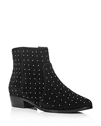 Joie Lacole Studded Low Heel Booties Black Gold
