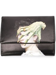 Undercover Printed Leather Wallet Black