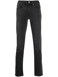Frame Mid Rise Skinny Jeans Grey