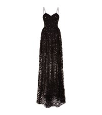 Sophia Kah Lace Corset Gown Female Black