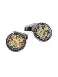 John Hardy Black Sapphire Apache Gold And Sterling Silver Cuff Links No Color