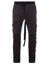 Fear Of God Velcro Patch Suede And Technical Panel Trousers Black