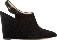 Amelie Pichard Black Pointed Toe Nicolle Wedges
