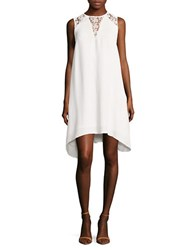 French Connection Lace Inset Trapeze Dress Summer White