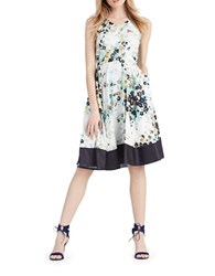 Donna Morgan Floral Print Fit And Flare Dress Midnight Multi