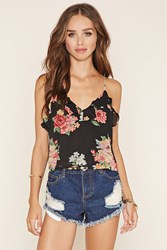 Forever 21 Ruffled Floral Print Cami