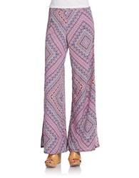 Jessica Simpson Kenny Wide Leg Pants Pink Mosaic