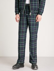 Blood Brother Check Pattern Textured Trousers