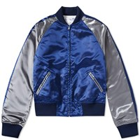 Comme Des Garcons Shirt Boy Back Print Souvenir Jacket Blue