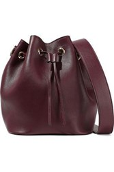 Iris And Ink Maria Leather Bucket Bag Burgundy
