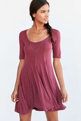 Silence And Noise Silence Noise Beverly Swing Cupro T Shirt Dress Maroon