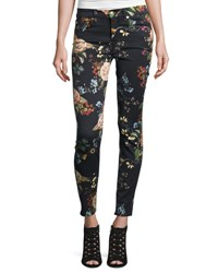 7 For All Mankind The Ankle Skinny Floral Print Jeans English Botanical