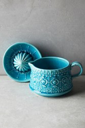 Anthropologie Gisela Butter Dish Turquoise
