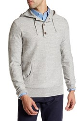 J. Crew Factory Henley Knit Hoodie Gray