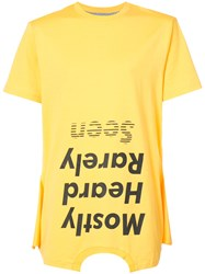 Mostly Heard Rarely Seen Should Be Higher T Shirt Yellow And Orange
