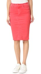 Mother The Double Fray Skirt Rouge
