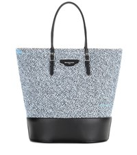 Balenciaga Fabric And Leather Shopper Blue