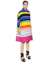 Missoni Oversized Boiled Wool And Lurex Coat