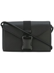 Christopher Kane Safety Buckle Devine Shoulder Bag Leather Black