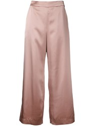Cityshop Cropped Wide Leg Trousers Pink Purple