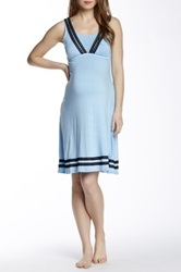 Majamas Celia Maternity Nursing Gown Blue