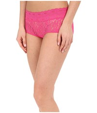 Wacoal Halo Lace Boy Short Fuchsia Purple Women's Underwear Pink