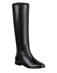 Marc Fisher Maxi Leather Knee High Boo Black